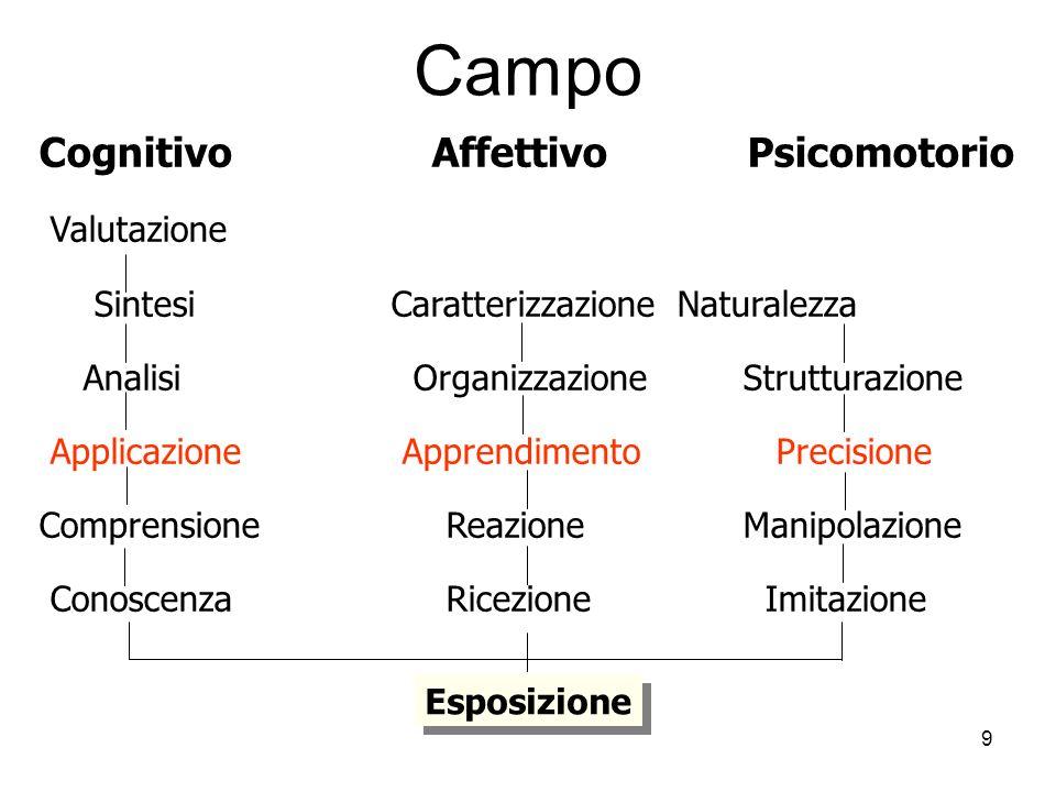 Campo Cognitivo Affettivo Psicomotorio Valutazione