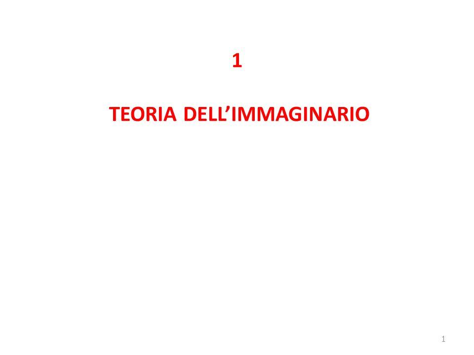 1 TEORIA DELL'IMMAGINARIO