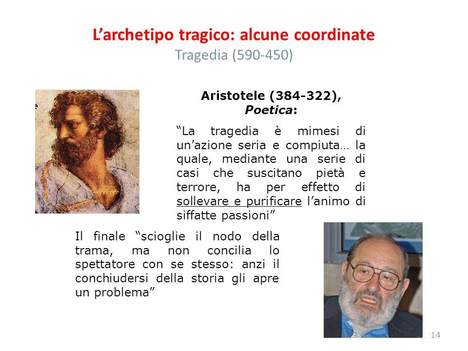 L'archetipo tragico: alcune coordinate Tragedia (590-450)