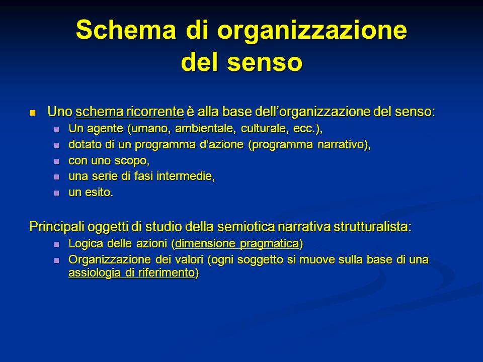 Schema di organizzazione del senso