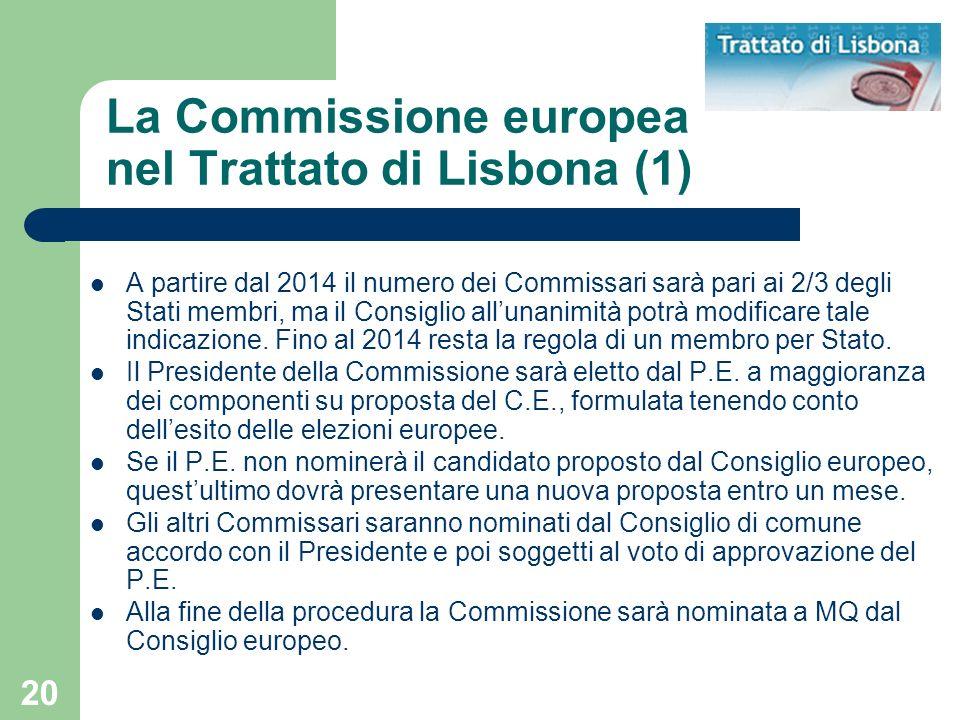 La Commissione europea nel Trattato di Lisbona (1)