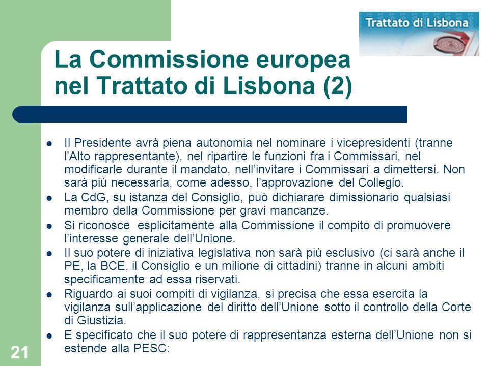 La Commissione europea nel Trattato di Lisbona (2)
