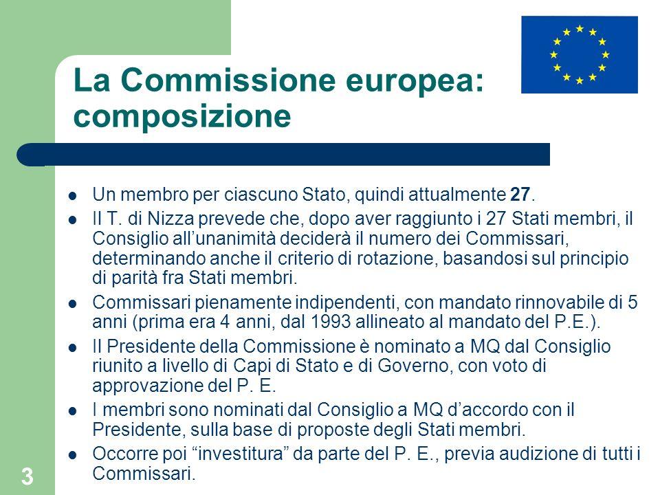 La Commissione europea: composizione