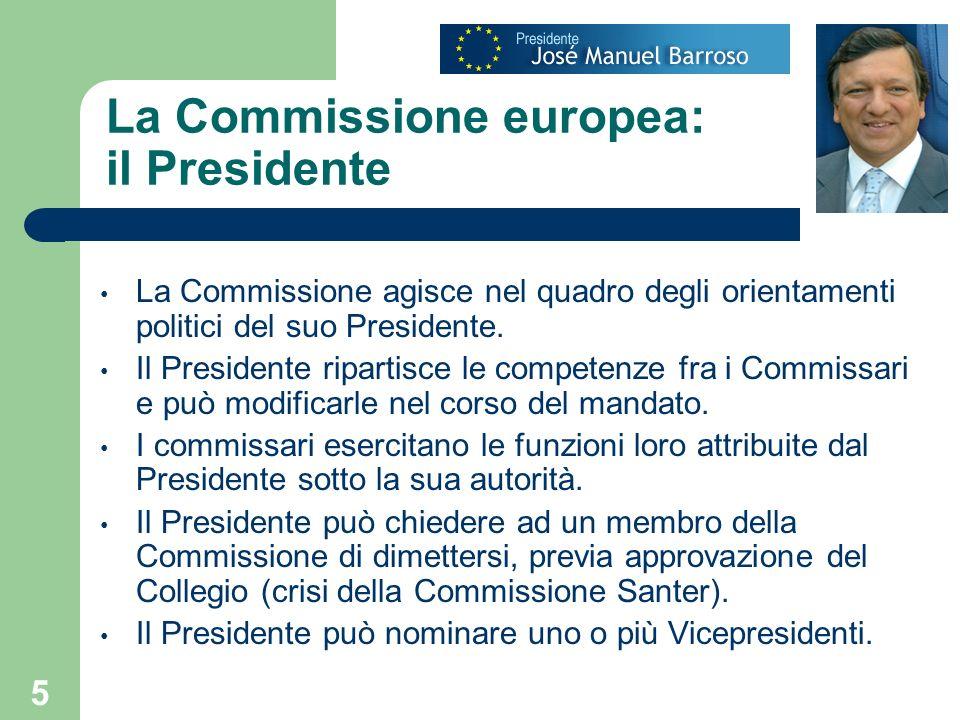 La Commissione europea: il Presidente