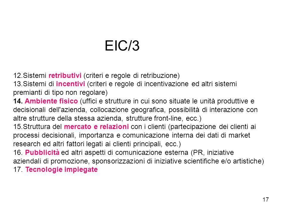 EIC/3 12.Sistemi retributivi (criteri e regole di retribuzione)
