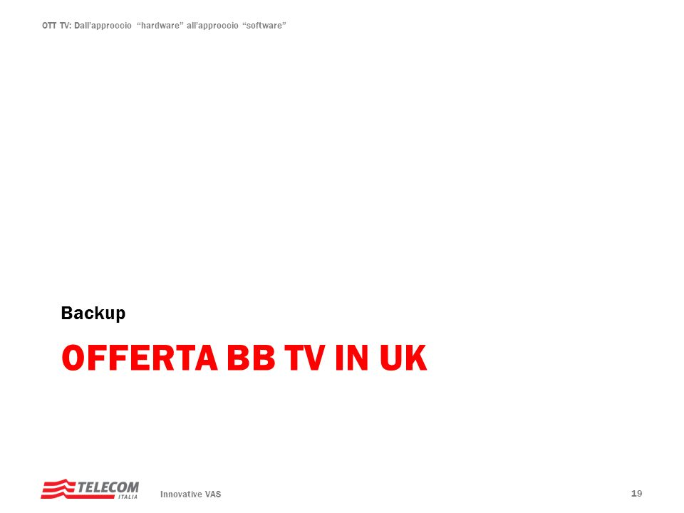 Backup Offerta bb tv in UK Innovative VAS 19