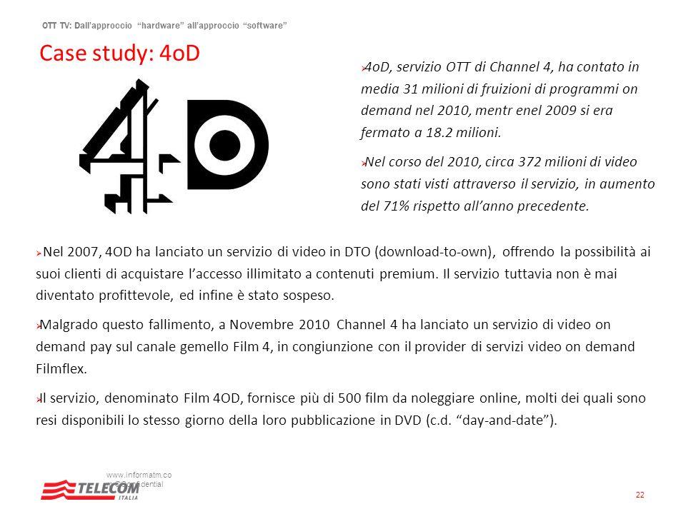 Case study: 4oD