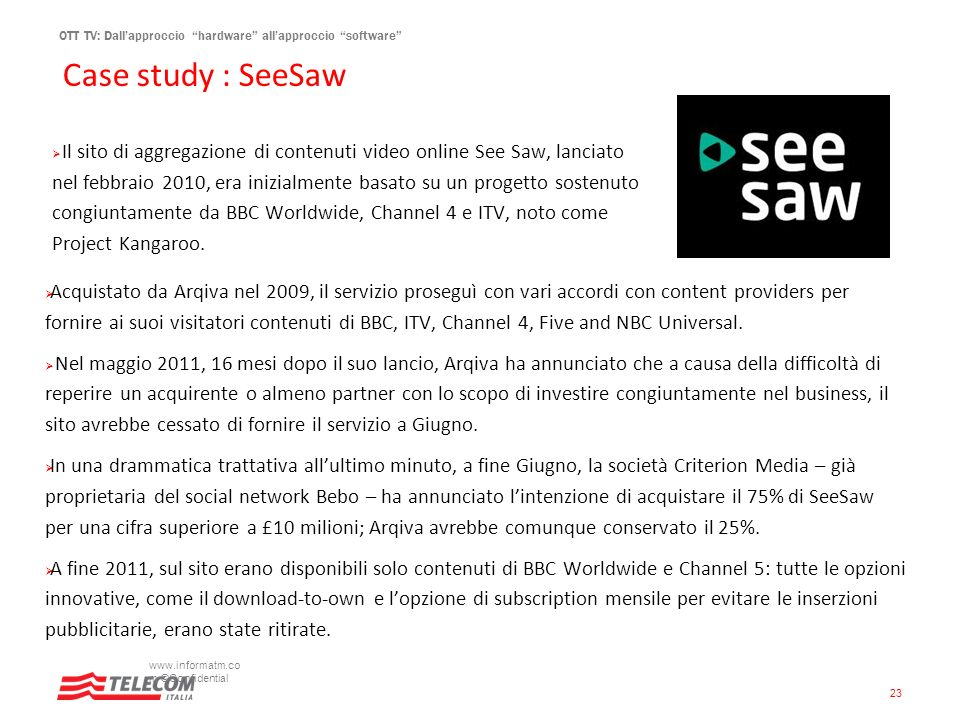 Case study : SeeSaw