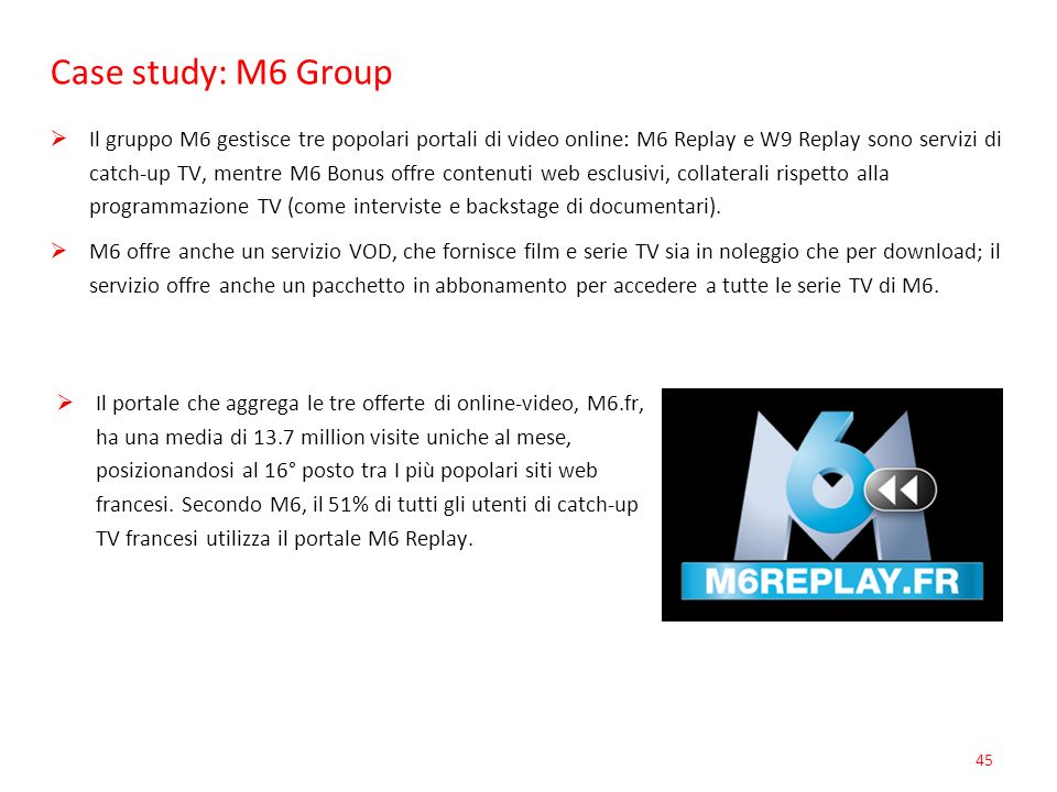 Case study: M6 Group