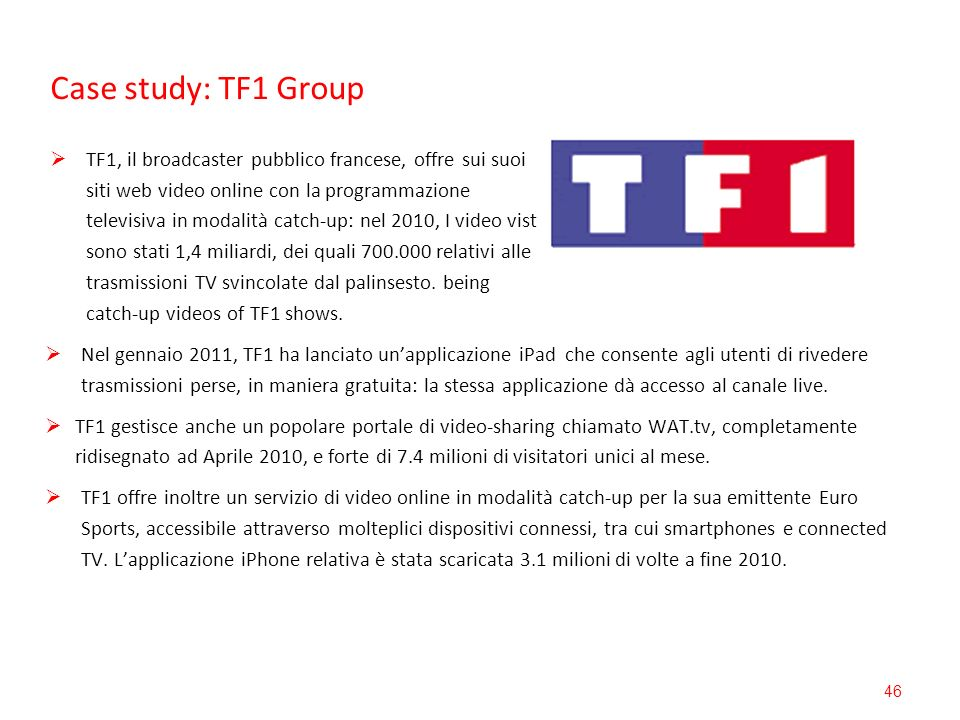Case study: TF1 Group