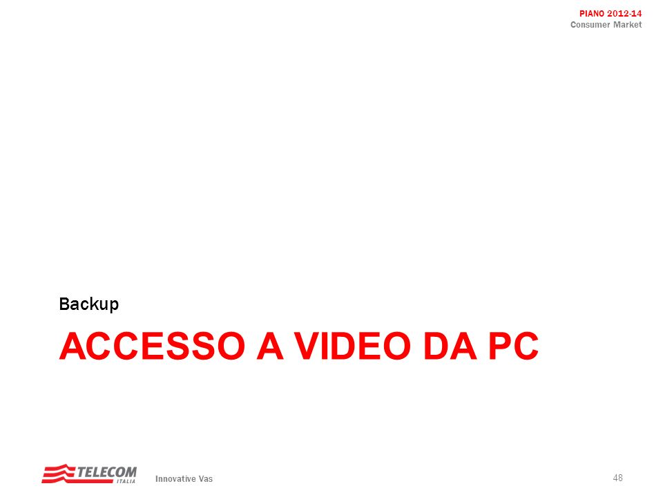 Backup Accesso a video da pc