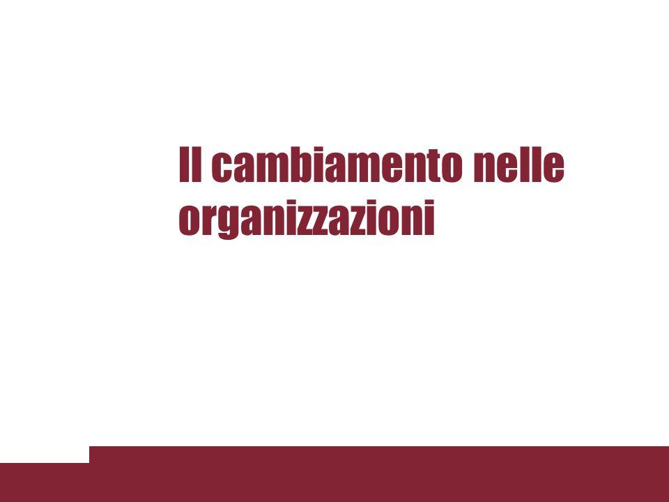 Il cambiamento nelle organizzazioni