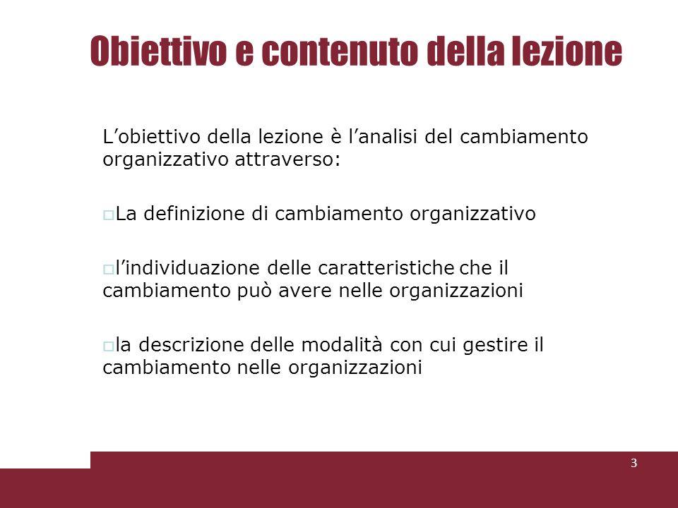 Obiettivo e contenuto della lezione