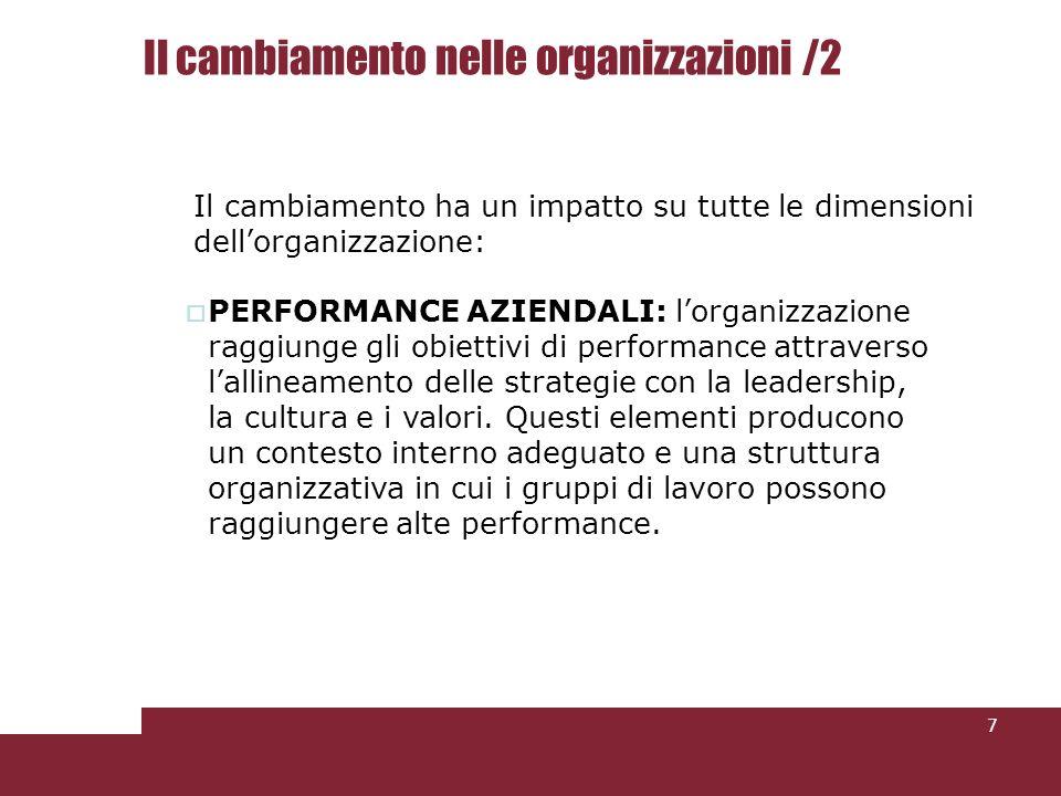 Il cambiamento nelle organizzazioni /2