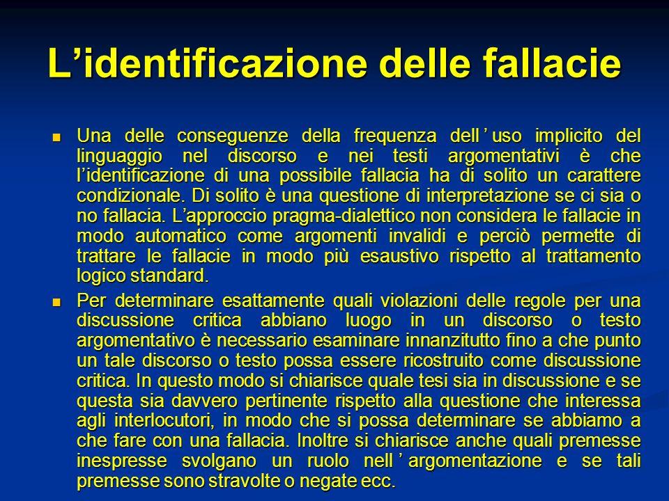 L'identificazione delle fallacie