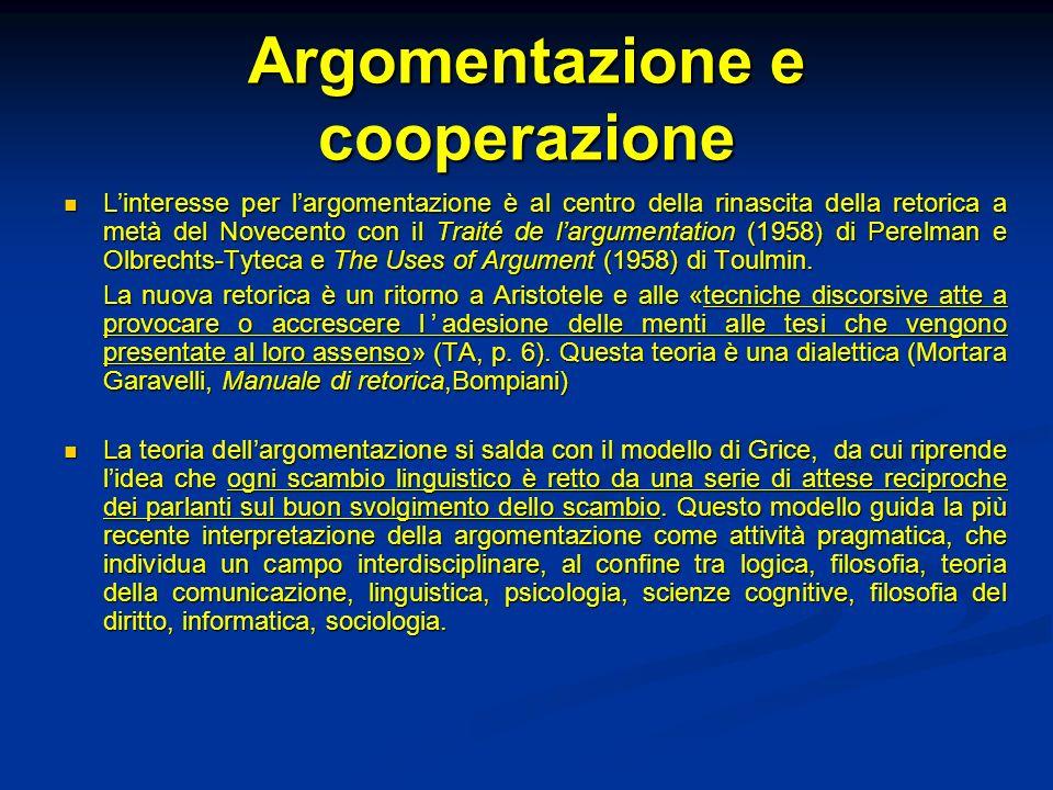 Argomentazione e cooperazione