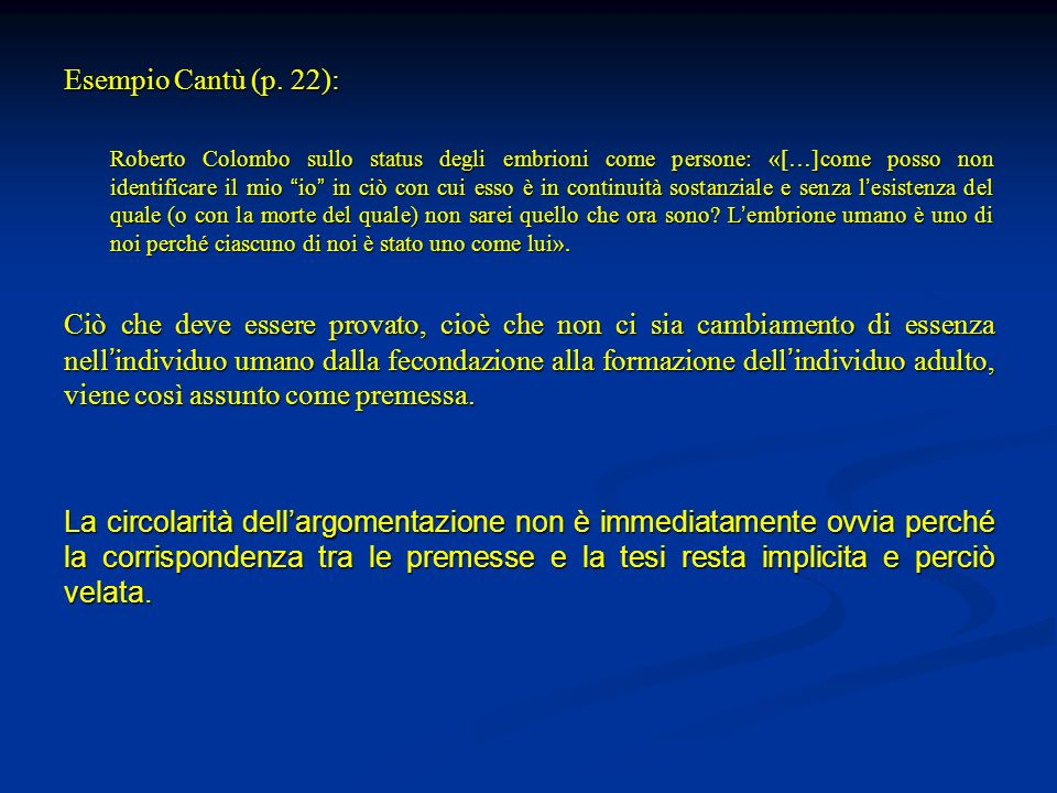 Esempio Cantù (p. 22):