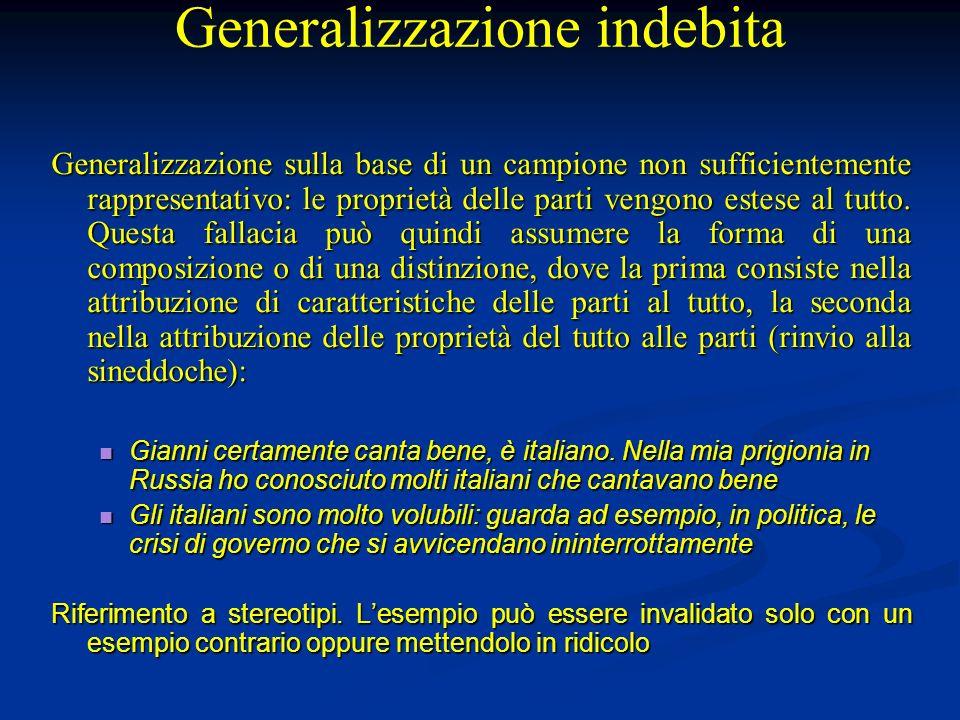 Generalizzazione indebita