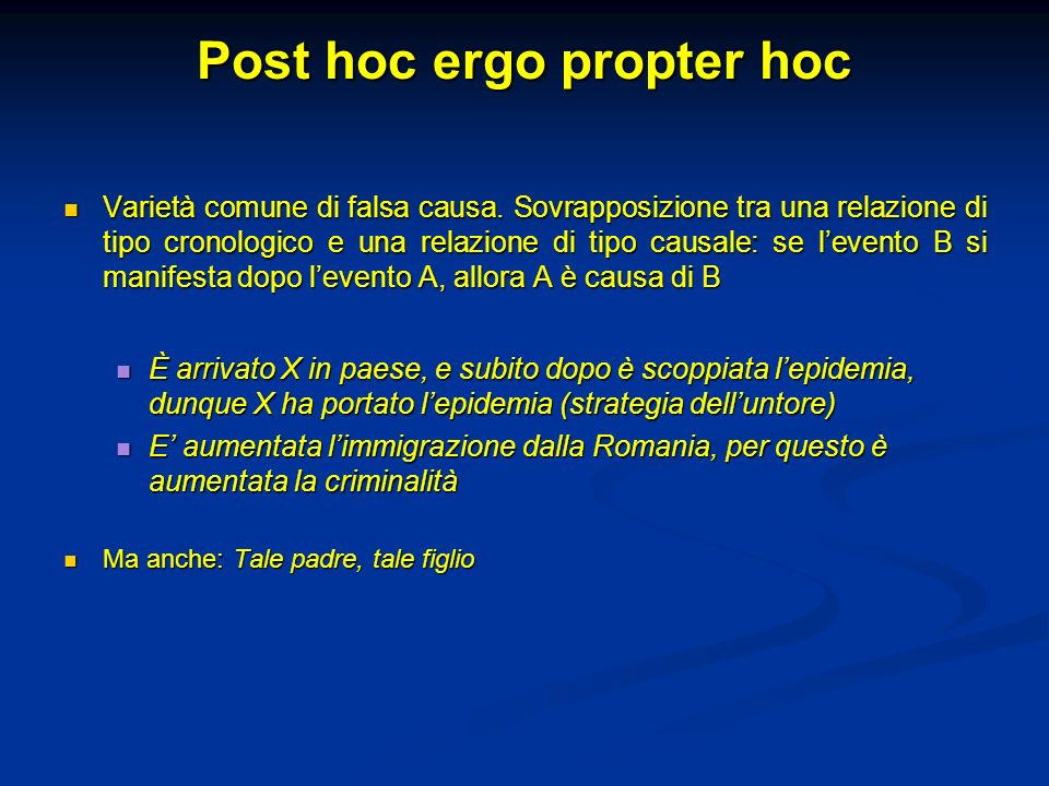 Post hoc ergo propter hoc