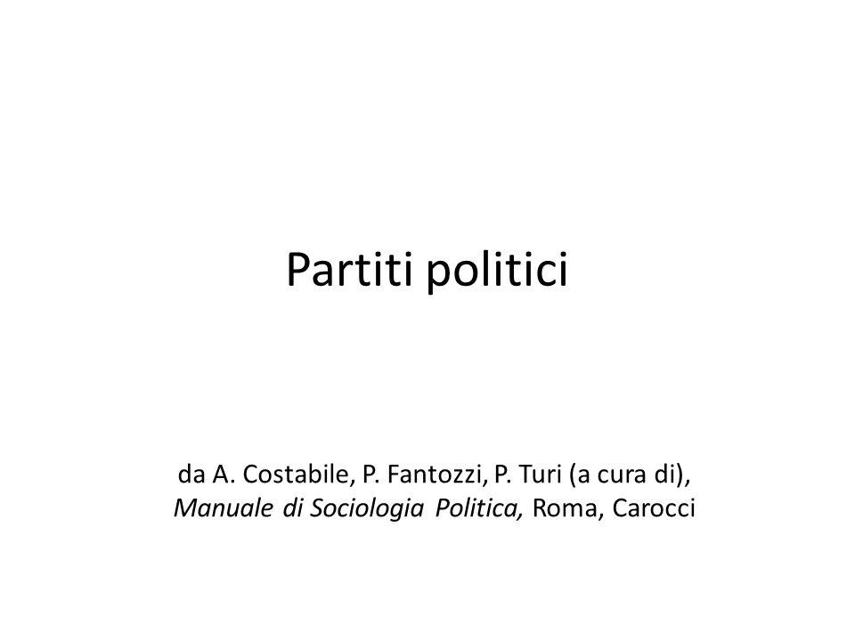 Partiti politici da A. Costabile, P. Fantozzi, P. Turi (a cura di),