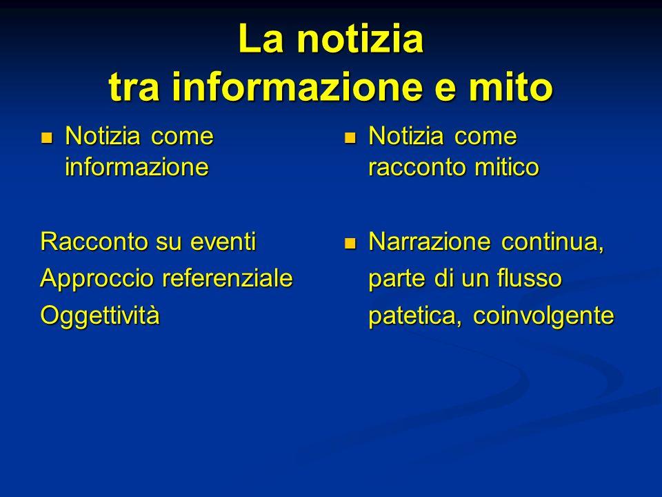 La notizia tra informazione e mito