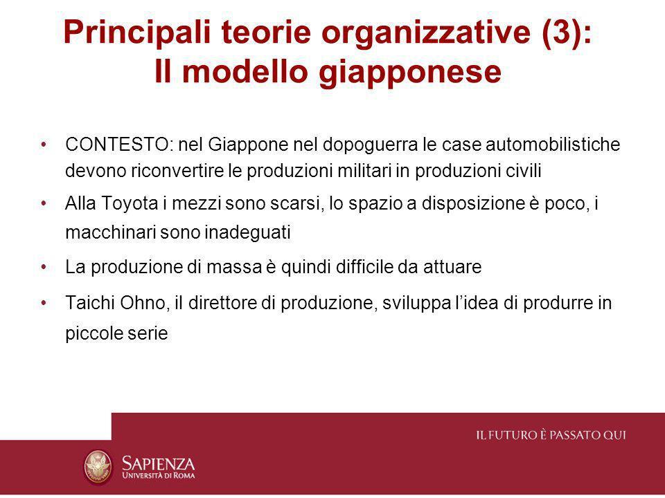 Principali teorie organizzative (3): Il modello giapponese