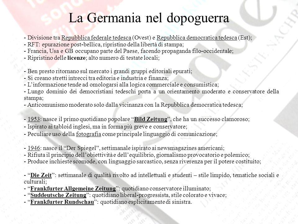 La Germania nel dopoguerra