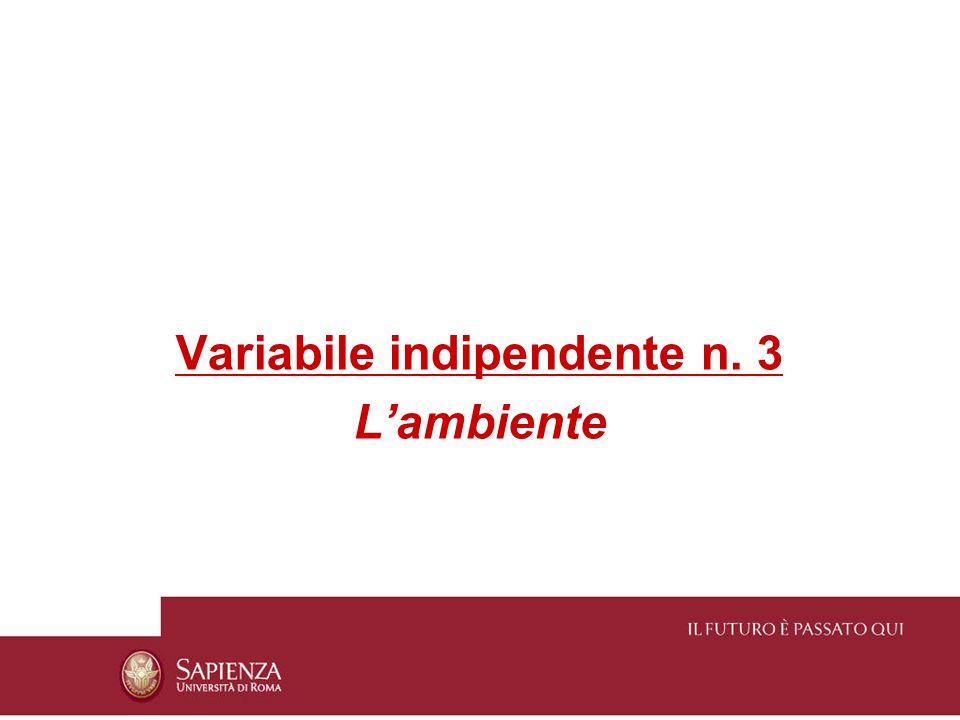 Variabile indipendente n. 3
