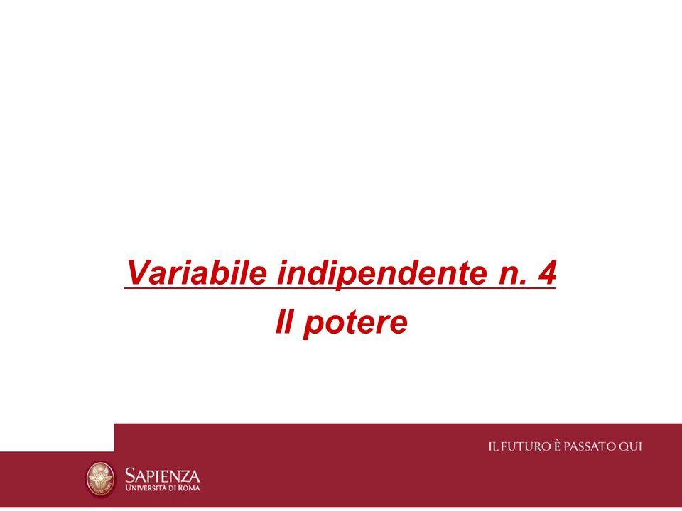 Variabile indipendente n. 4
