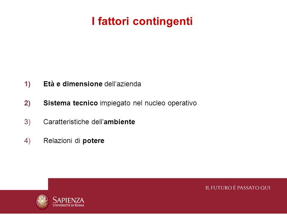 I fattori contingenti Età e dimensione dell'azienda