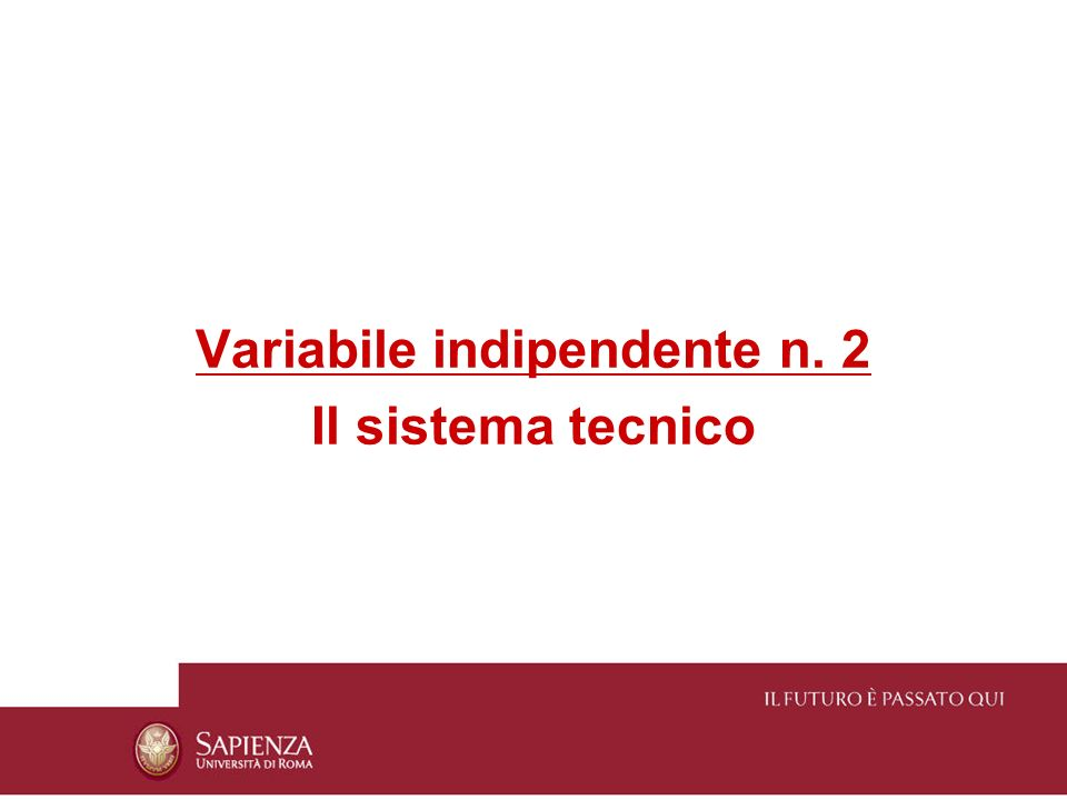 Variabile indipendente n. 2