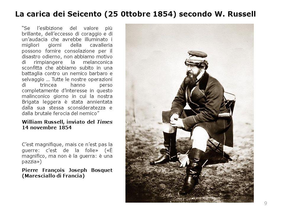 La carica dei Seicento (25 0ttobre 1854) secondo W. Russell
