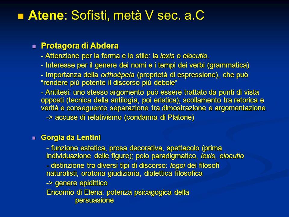 Atene: Sofisti, metà V sec. a.C