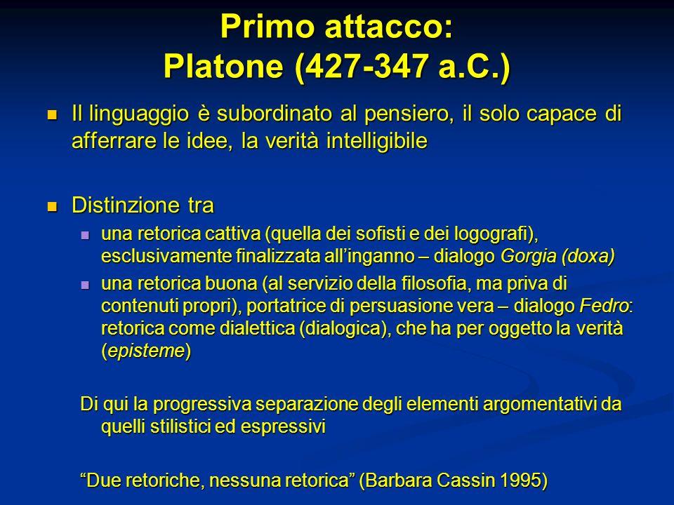 Primo attacco: Platone (427-347 a.C.)