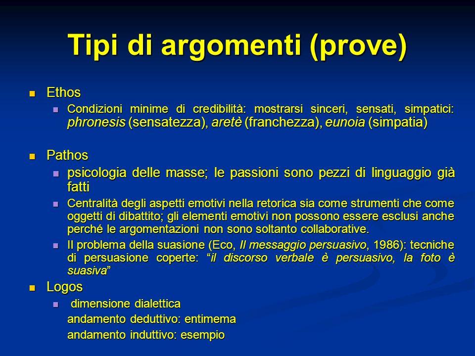 Tipi di argomenti (prove)