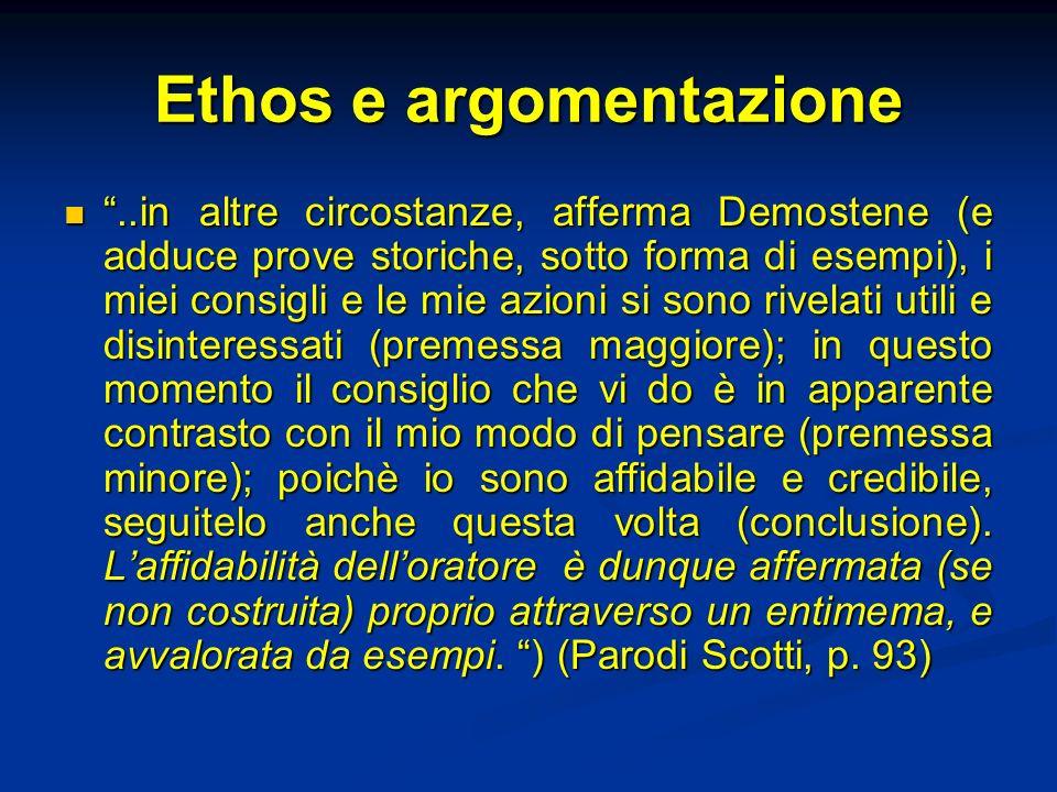 Ethos e argomentazione