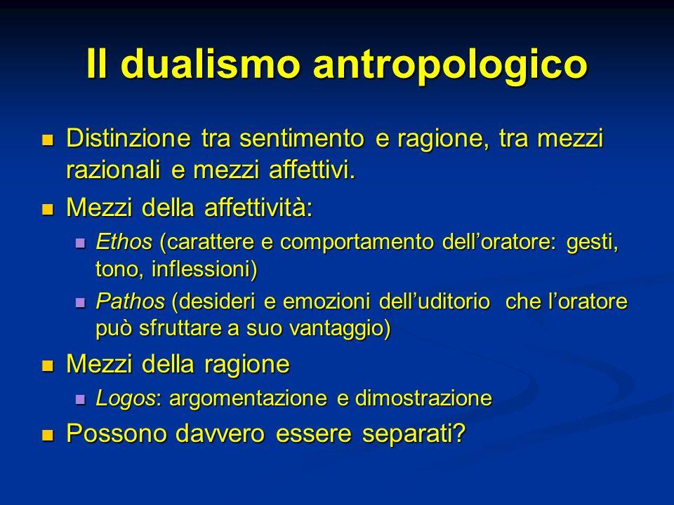 Il dualismo antropologico