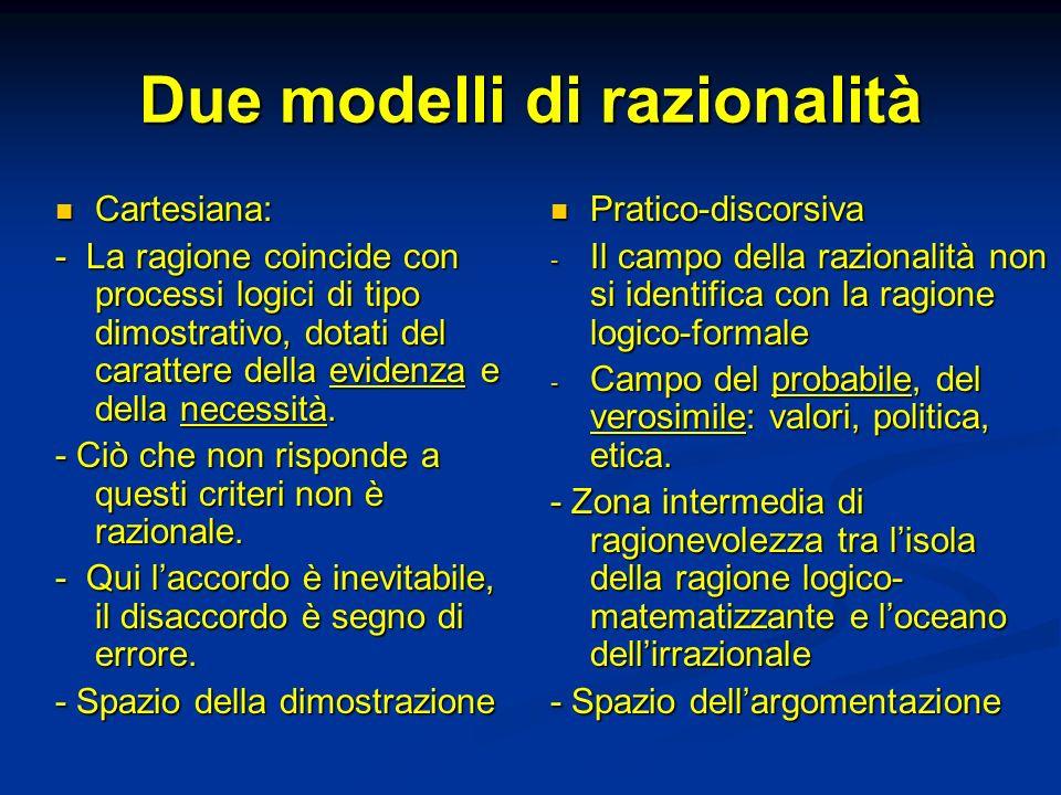 Due modelli di razionalità