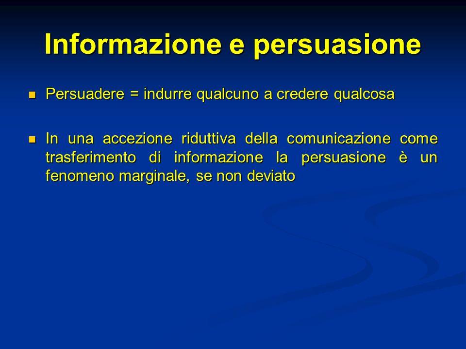 Informazione e persuasione
