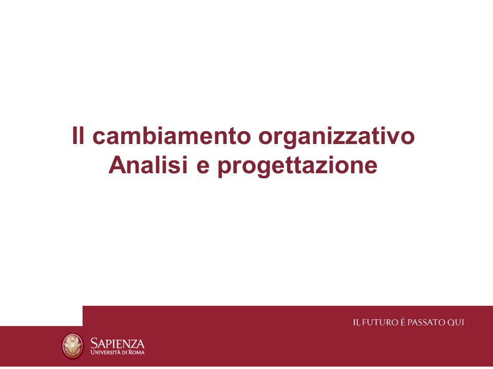 Il cambiamento organizzativo Analisi e progettazione