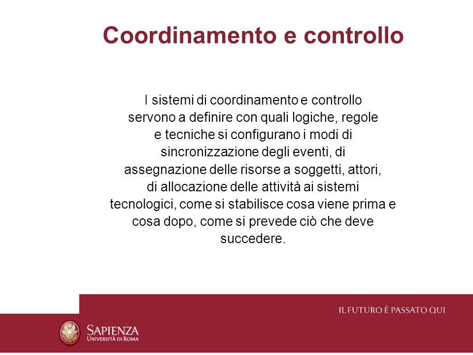 Coordinamento e controllo