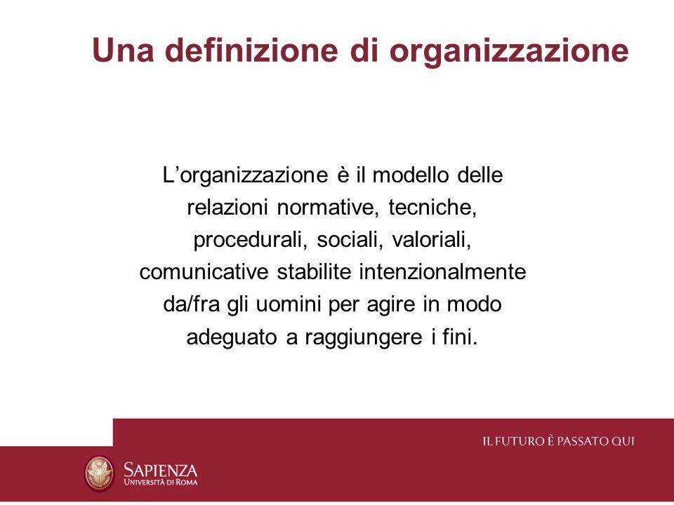 Una definizione di organizzazione