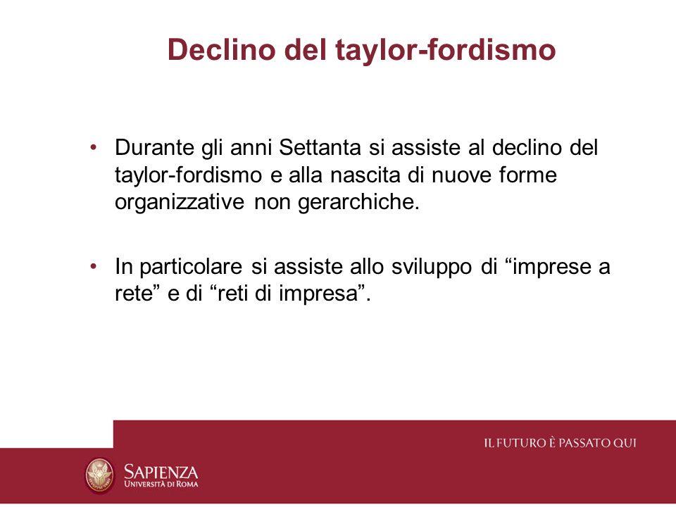 Declino del taylor-fordismo