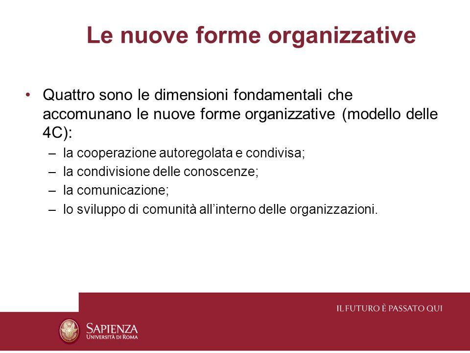 Le nuove forme organizzative