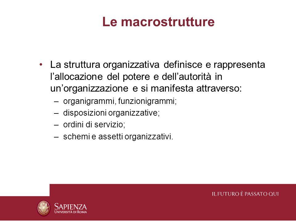 Le macrostrutture