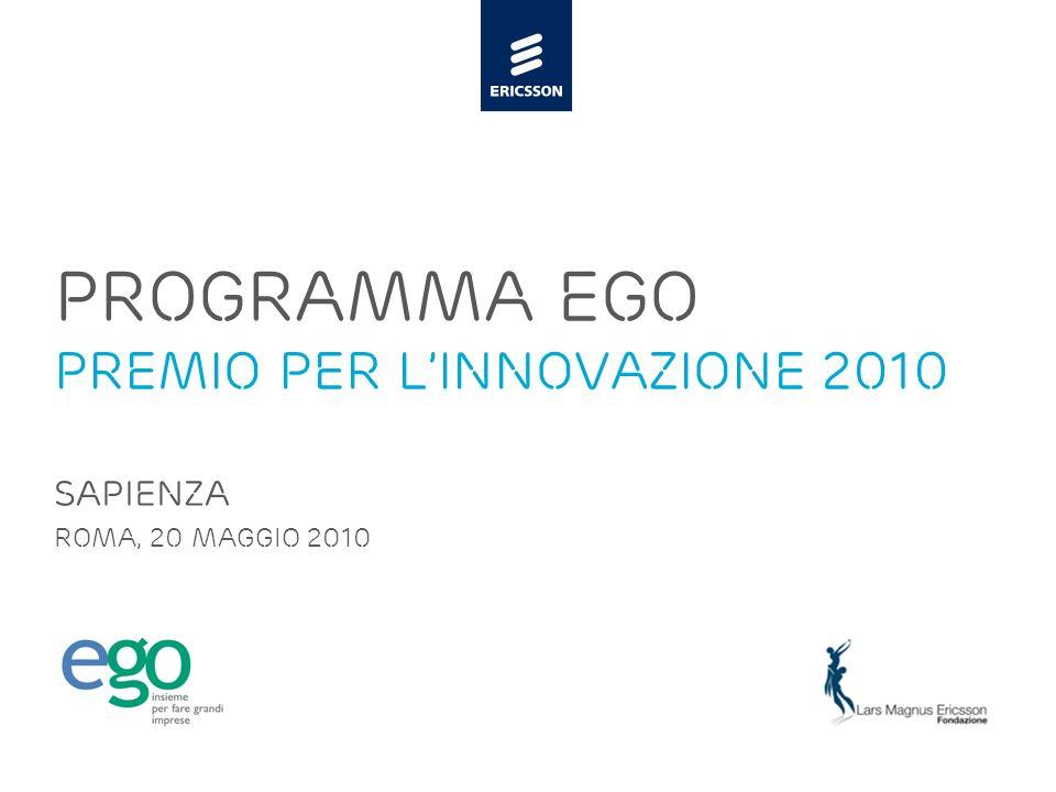 PROGRAMMA EGo PREMIO PER L'innovazione 2010