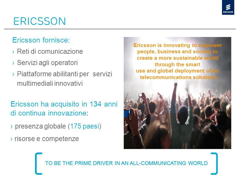 ERicsson Ericsson fornisce: