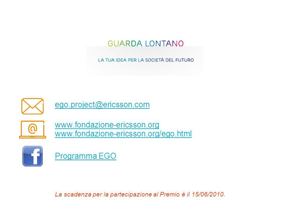 ego.project@ericsson.com www.fondazione-ericsson.org