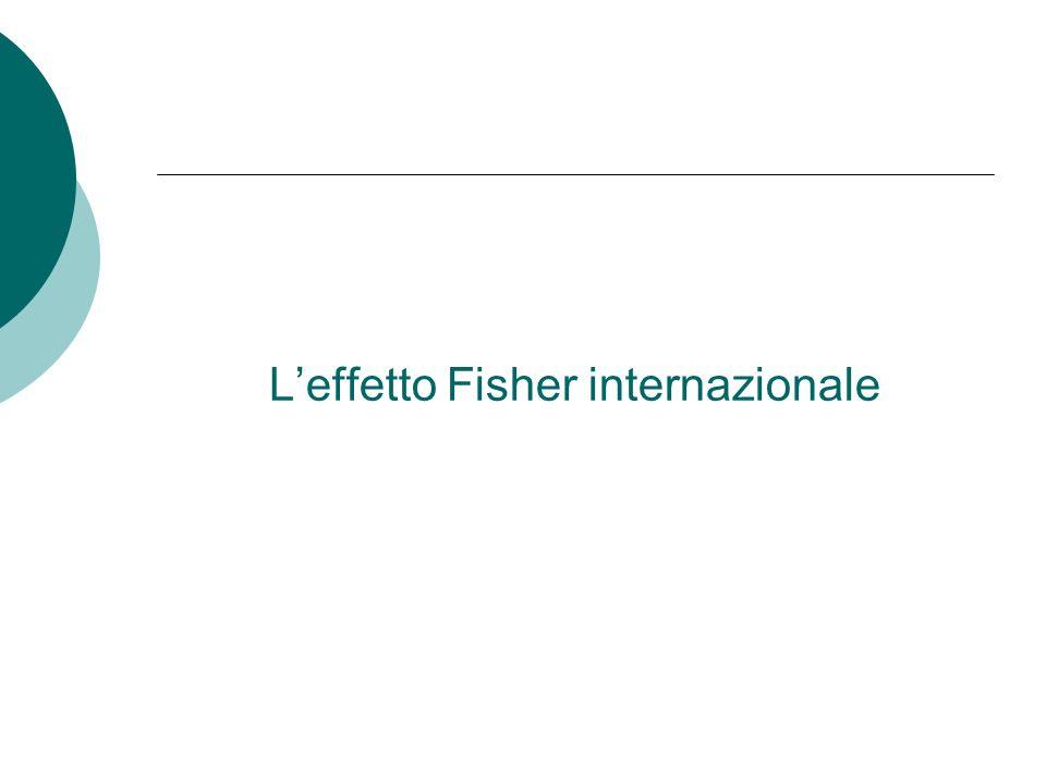 L'effetto Fisher internazionale