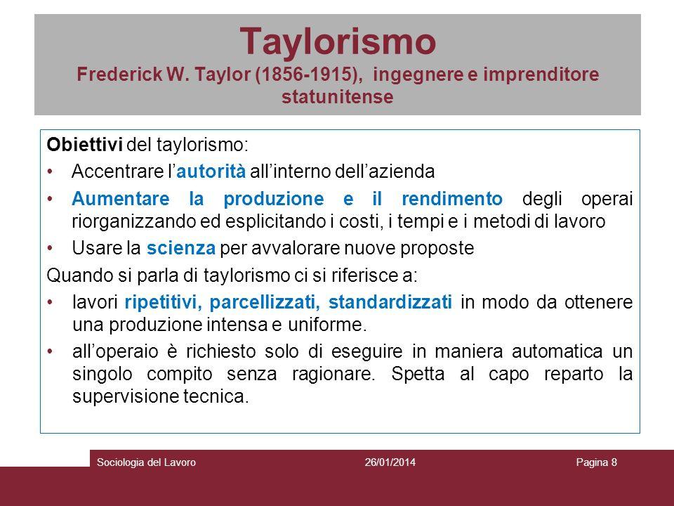 Taylorismo Frederick W